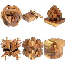 Group Special - a set of 6 XS HeadStress puzzles - Wood Puzzles