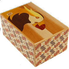5 Sun 10 Step Bird B - Japanese Puzzle Boxes