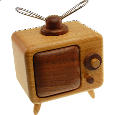 Karakuri Old TV - Wood Puzzles