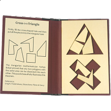 Puzzle Booklet - Cross to Triangle - European Wood Puzzles