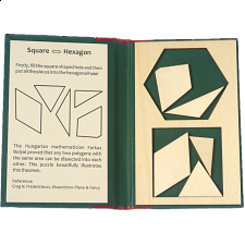 Puzzle Booklet - Square to Hexagon - European Wood Puzzles