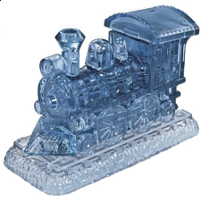 3D Crystal Puzzle - Locomotive - Jigsaws