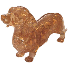 3D Crystal Puzzle - Dachshund -