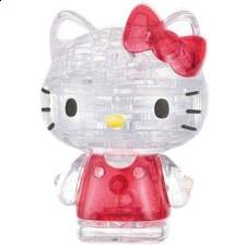 3D Crystal Puzzle - Hello Kitty Lovely - Plastic Interlocking Puzzles