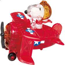 3D Crystal Puzzle - Snoopy Flying Ace -