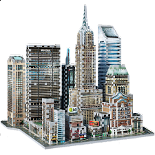 New York Collection: Midtown East - Wrebbit 3D Jigsaw Puzzle - 3D