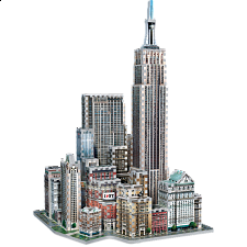 New York Collection: Midtown West - Wrebbit 3D Jigsaw Puzzle - 3D