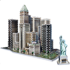 New York Collection: Downtown Financial - Wrebbit 3D Jigsaw - 3D