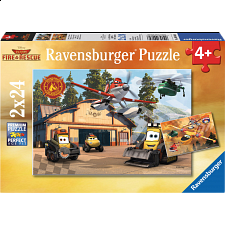 Disney Planes: Always in Action - 2 x 24 piece puzzles - 1-100 Pieces