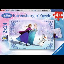 Disney Frozen: Sisters Always - 2 x 24 piece puzzles -