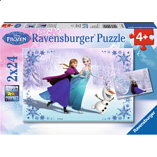Disney Frozen: Sisters Always - 2 x 24 piece puzzles - 1-100 Pieces