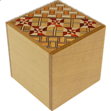 2 Sun Cube 2 Step Natural / Koyosegi - Japanese Puzzle Boxes