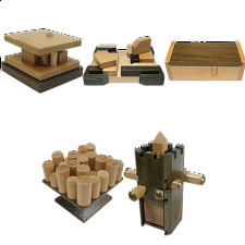 Group Special - a set of 5 Family Games puzzles - Wood Puzzles