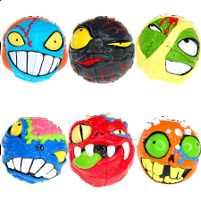 MAD HEDZ - Crazy 2x2x2 Puzzle Heads - Set of 6 - Specials