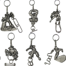 Group Set - a set of 6 Marvel Heroes keychains - Wire & Metal Puzzles