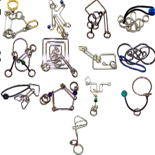 .Level 9 - a set of 13 wire puzzles -