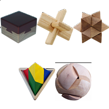 .Level 7 - a set of 5 wood puzzles - Specials