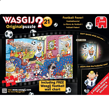 Wasgij Original #21: Football Fever - 2 x 1000 piece puzzles - 1000 Pieces