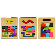 IQ Fit - Reunion Puzzles - Set of 3 - Other Wood Puzzles