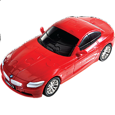 3D Puzzle Cars - BMW Z4 (Red) - Plastic Interlocking Puzzles
