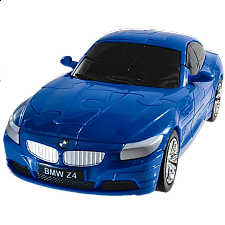 3D Puzzle Cars - BMW Z4 (Blue) - Plastic Interlocking Puzzles
