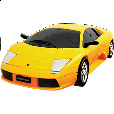 3D Puzzle Cars - Lamborghini (Yellow) - Plastic Interlocking Puzzles
