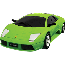 3D Puzzle Cars - Lamborghini (Green) - Plastic Interlocking Puzzles