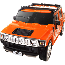 3D Puzzle Cars - Hummer H2 (Orange) - Plastic Interlocking Puzzles