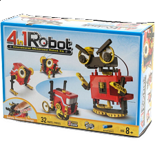 4-in-1 Educational Motorized Robot Kit - Geeky Gadgets