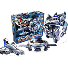 7-in-1 Solar Rechargeable Space Fleet - Games & Toys