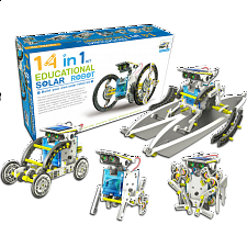 14-in-1 Educational Solar Robot Kit - Geeky Gadgets