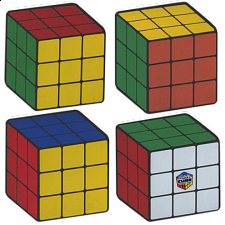 Rubik's Cube Coasters - Set of 4 - Rubik's Cube & Others