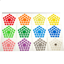 Cube4You Gigaminx Sticker Set - Rubik's Cube & Others