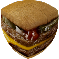 V-CUBE 2 Pillow (2x2x2): Burger Cube - Search Results