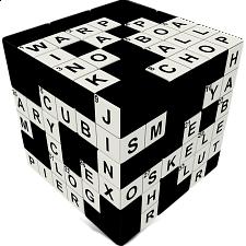 V-CUBE 3 Flat (3x3x3): Crossword Cube - Rubik's Cube & Others