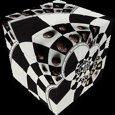 V-CUBE 3 Flat (3x3x3): Chessboard Illusion -