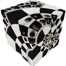 V-CUBE 3 Flat (3x3x3): Chessboard Illusion - Rubik's Cube & Others