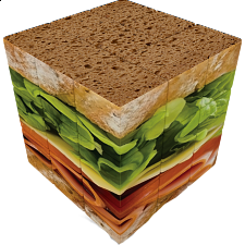 V-CUBE 3 Flat (3x3x3): Sandwich -