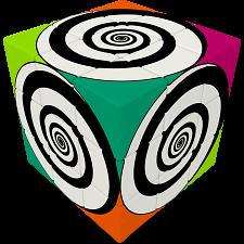 V-CUBE 3 Flat (3x3x3): Funky Spirals -