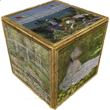 V-CUBE 3 Flat (3x3x3): Monet -