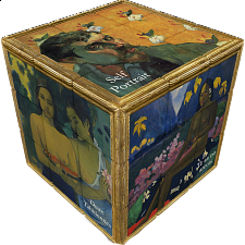 V-CUBE 3 Flat (3x3x3): Gauguin - Rubik's Cube & Others