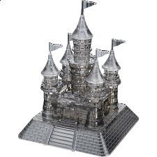 3D Crystal Puzzle Deluxe - Black Castle - Jigsaws