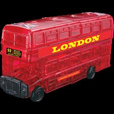 3D Crystal Puzzle - London Bus -