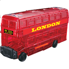 3D Crystal Puzzle - London Bus - Plastic Interlocking Puzzles