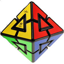 Pyraminx Diamond - 8 Colors - Black Body - Oskar van Deventer