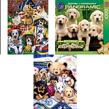 Jigsaw Puzzle Set - Puppies - 500-999 Pieces
