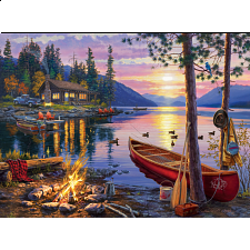 Darrell Bush: Canoe Lake - 1000 Pieces
