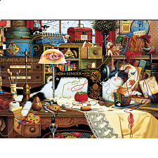 The Cats of Charles Wysocki: Maggie the Messmaker - 500-999 Pieces
