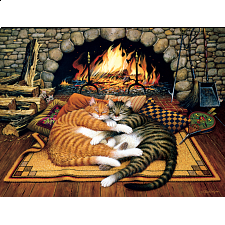 The Cats of Charles Wysocki: All Burned Out - 500-999 Pieces