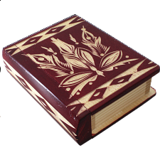 Romanian Secret Book Box - Red - Wood Puzzles